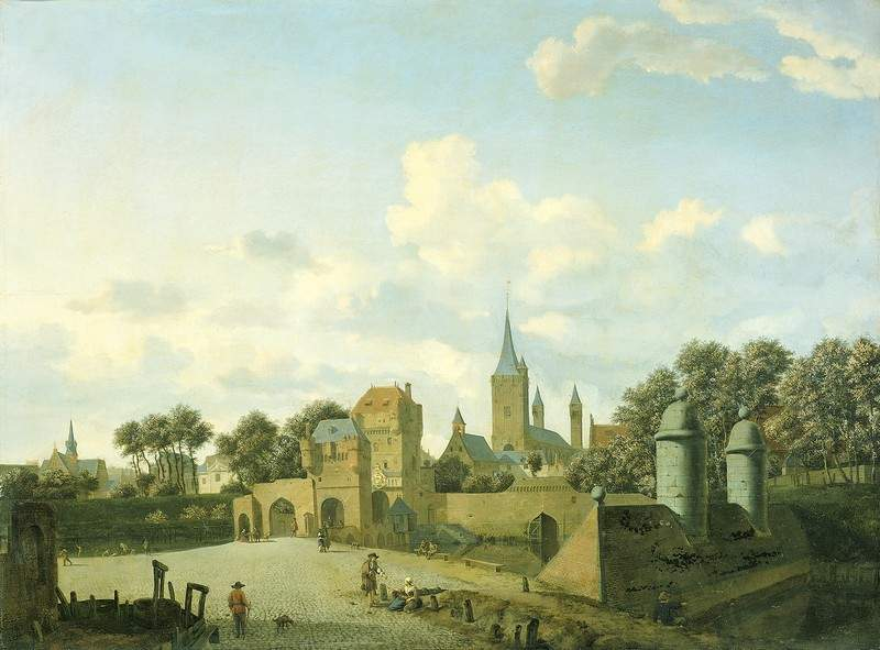 The church of St. Severin in Cologne in a fictive setting — Адриан ван де Вельде
