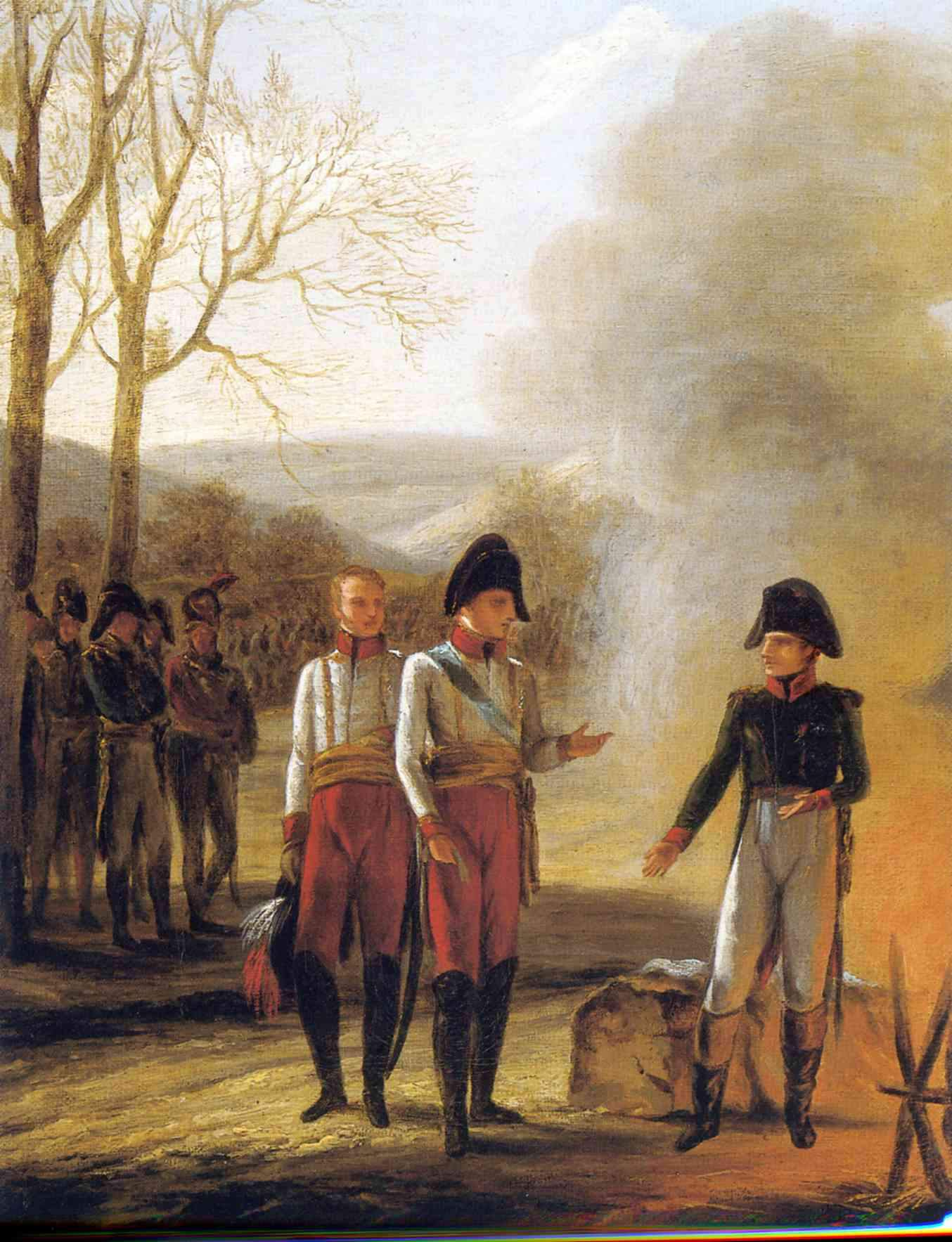 The conversation of Napoleon and Francois II — Пьер Поль Прюдон