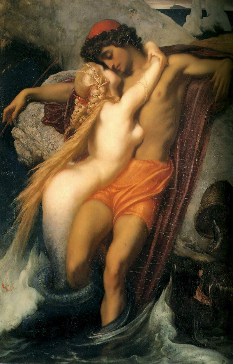 The Fisherman and the Syren. — Фредерик Лейтон
