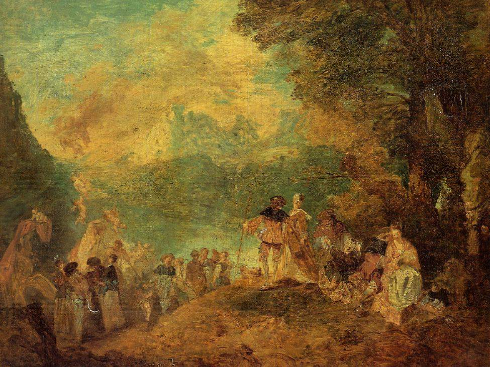 The Pilgrimage to Cythera (after Watteau) — Эжен Буден