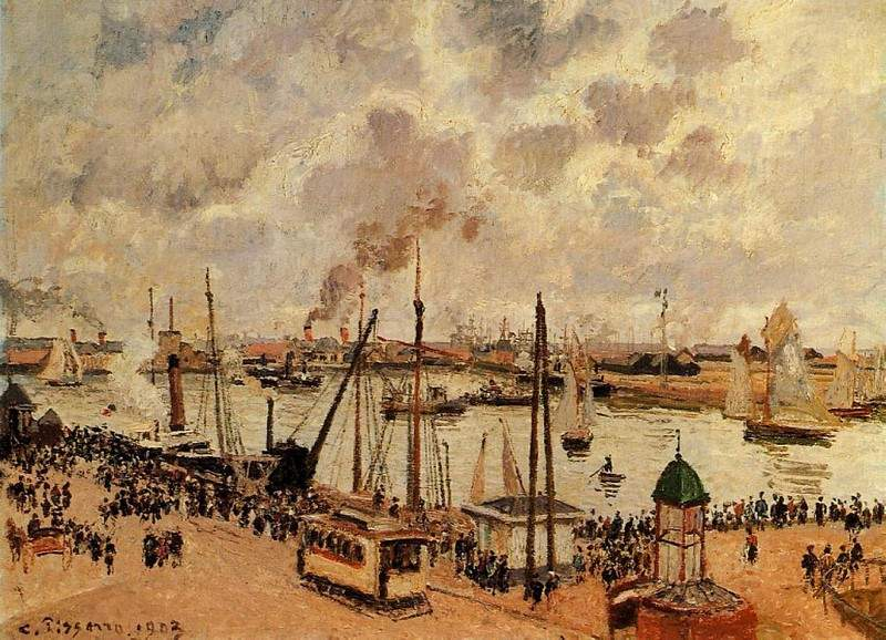 The Port of Le Havre — Камиль Писсарро
