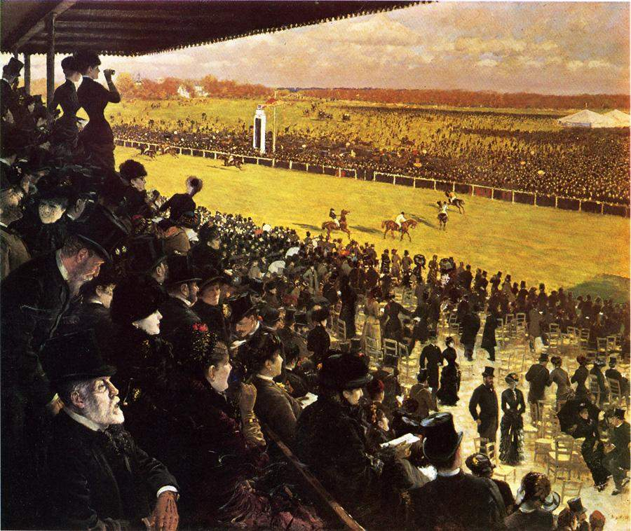 The Races at Longchamps from the Grandstand — Джузеппе Де Ниттис