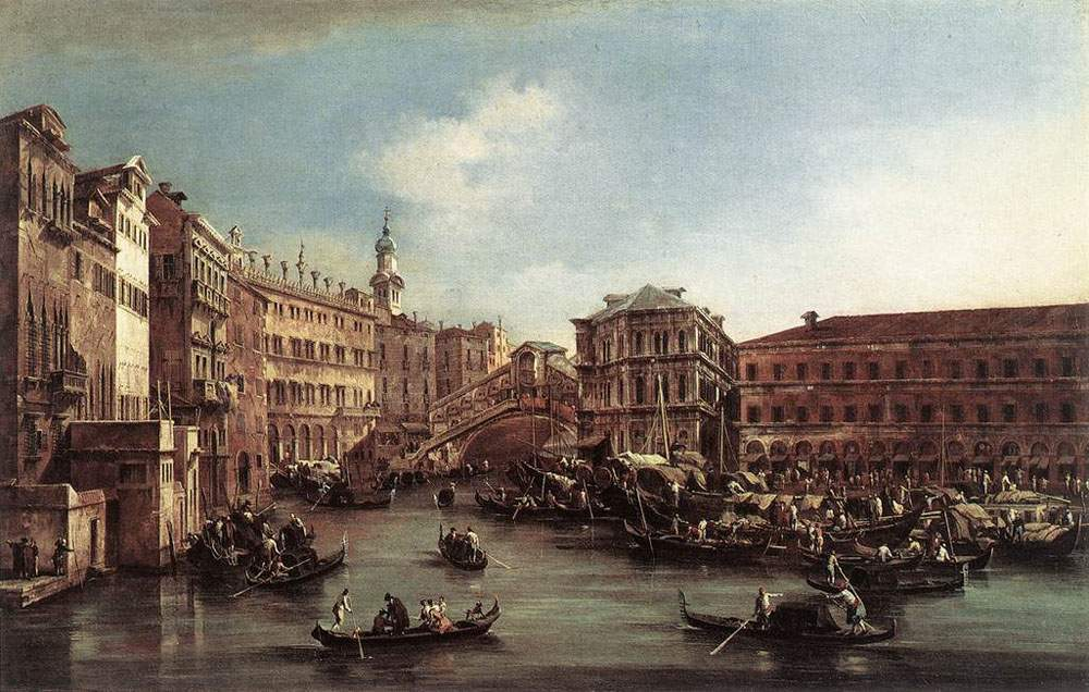 The Rialto Bridge with the Palazzo dei Camerlenghi — Франческо Гварди