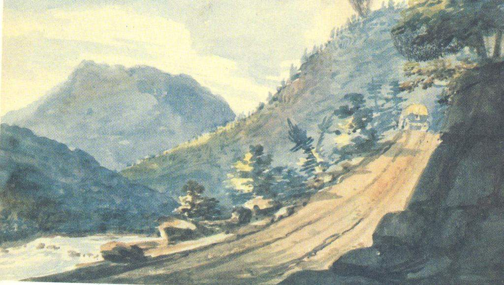The road in the mountains — Павел Свиньин