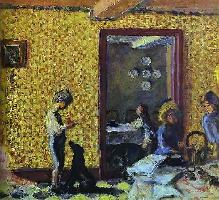 The Terrasse Children with Black Dog — Пьер Боннар