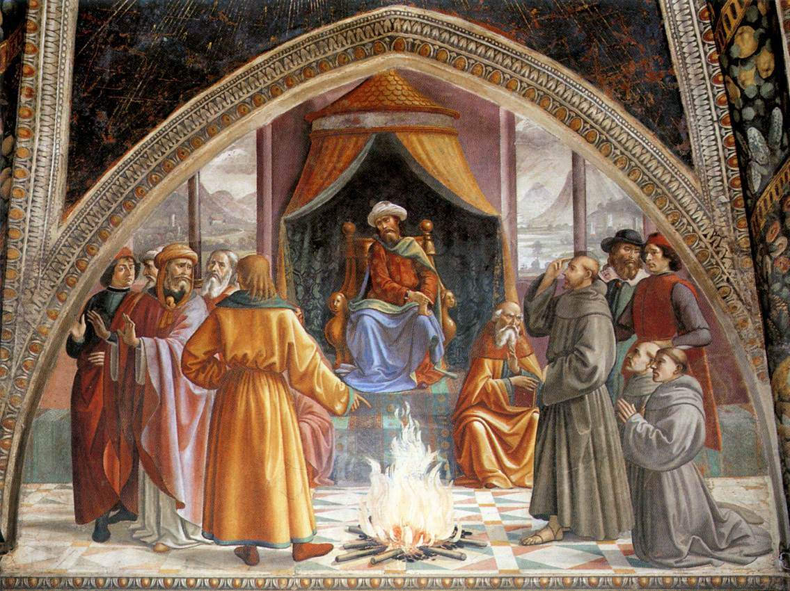 The Trial by Fire, St. Francis before the Sultan of Egypt — Доменико Гирландайо