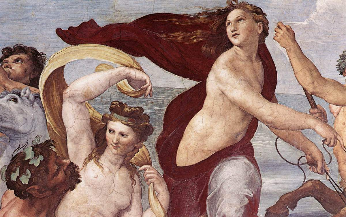 The Triumph of Galatea (detail) — Рафаэль Санти