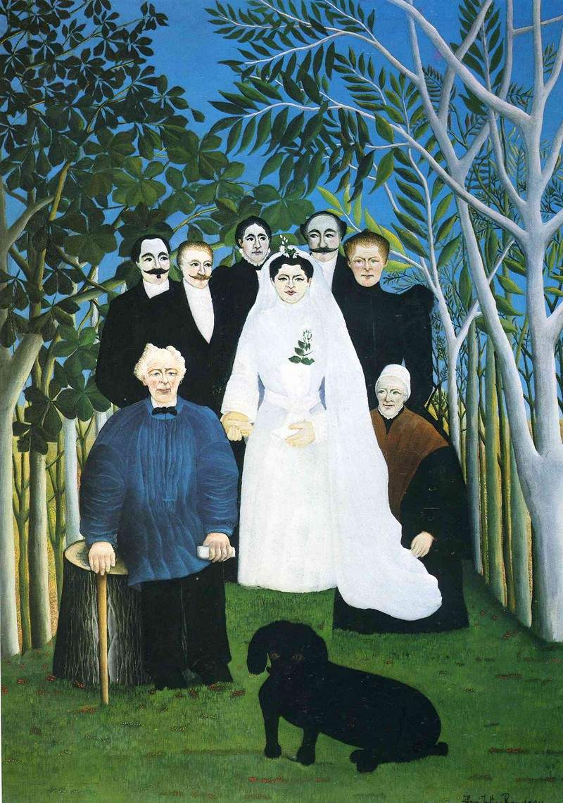 The wedding party — Анри Руссо