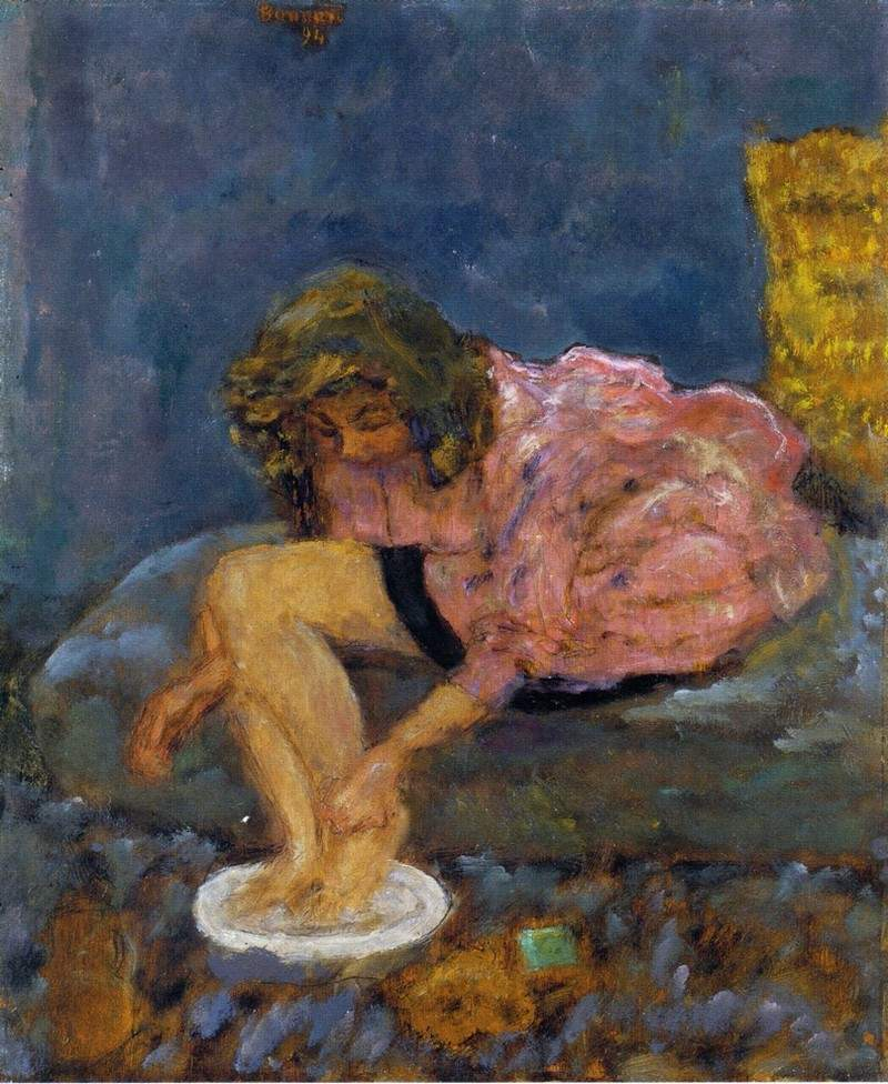 Woman Washing Her Feet — Пьер Боннар